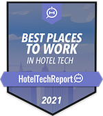 2021 Badge - Gagnant du Prix 2021 Best Places to Work en Hotel Tech