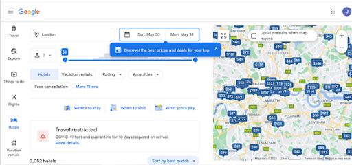 google hotels metasearch engine