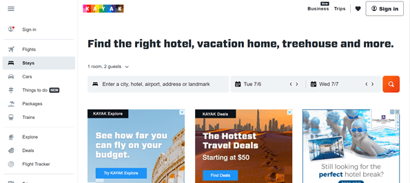 kayak best hotel booking sites