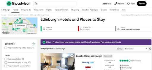 tripadvisor hotel metasearch