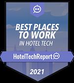 2021 Badge - Mejor Empresa para Trabajar en 2021 en Hotel Tech Winner