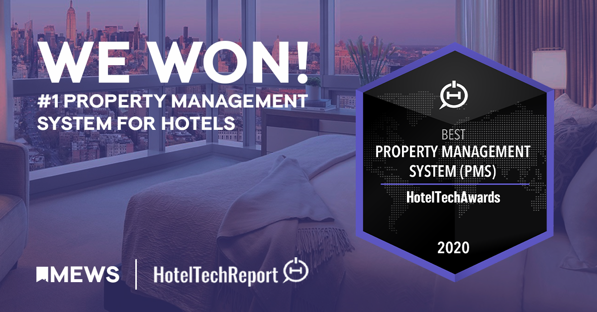 Mews wins Best Property Management System at the HotelTechAwards