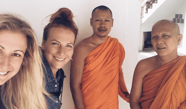 Aneta and the monks